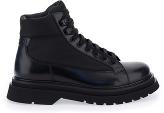 Prada Combat Lace-Up Boots