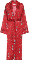 Kirin Printed satin kimono