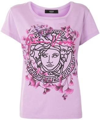 Versace floral medusa head T-shirt