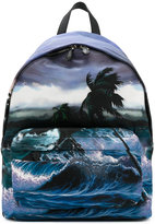 Givenchy ocean printed backpack - men - Leather/Acrylic/Polyamide - One Size