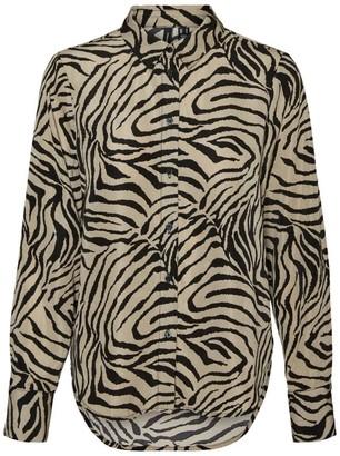 Vero Moda Vmlisa Graffic Shirt - Medium | brown | polyester | Black - Brown/Brown