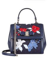 Salvatore Ferragamo Carrie Embroidered Top Handle Bag