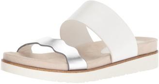 Kensie Women's Digby Slide Sandal White 11 M US