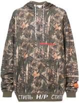 Heron Preston camouflage print hoodie