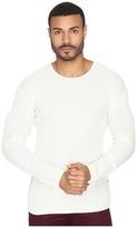 John Varvatos Waffle Stitch Long Sleeve Drop Shoulder Crew Neck Sweater Y1231S4B