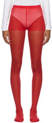 Junya Watanabe Red Nylon Plain Tights