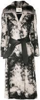 Fendi fur belted coat - women - Silk/Llama/Chinchilla/Virgin Wool - 44