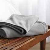 Crate & Barrel Siesta Dark Grey Blanket