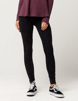 Others Follow Washed Moto Womens Leggings