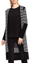 Vince Camuto Striped Maxi Cardigan