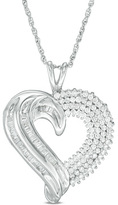3/4 CT. T.W. Diamond Heart Pendant in 10K White Gold