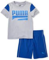 Puma Boys 4-7) Two-Piece Gradient Logo Shirt & Shorts Set
