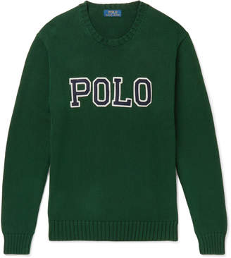 Polo Ralph Lauren Logo-Appliqued Cotton Sweater
