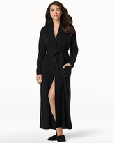 Soma Intimates Long Cashmere Robe Black