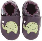 Robeez Love Elephant Girls Soft Sole (Infant/Todder) (Purple) - Footwear