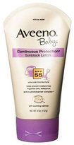 Aveeno Baby Sunblock Lotion, SPF-55, 4 oz Tubes New by