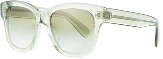 Oliver Peoples Melery Oversized Square Acetate Sunglasses, Sage