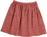 Bonton Jardin Floral Velvet Skirt