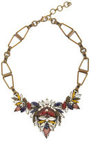 BCBGMAXAZRIA Multi-Colored Stone and Brass Geometric Necklace