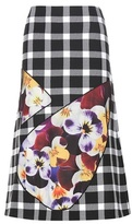 Christopher Kane Wool-blend gingham skirt