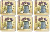 Pimpernel Café De Fleurs Coasters (Set of 6)