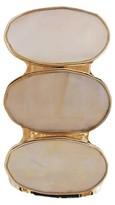 "Fashion Stretch Bracelet - 2.25"" - Gold/White"