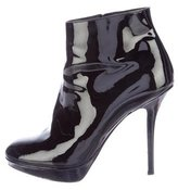 Christian Dior Patent Leather Platform Booties