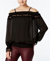 Amy Byer Juniors' Off-The-Shoulder Blouse