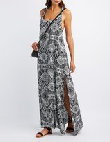 Charlotte Russe Printed Gauze Maxi Dress