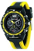 Sector Men's Quartz Watch with Black Dial Analogue Display and Yellow Fabric Strap R3251197022