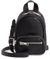 Alexander Wang Mini Attica Leather Backpack Shaped Crossbody Bag - Black