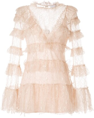 Alice McCall Lace Tiered Dress