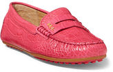 Ralph Lauren Belen Croc-Embossed Loafer