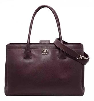 Chanel Executive Burgundy Leather Handbags