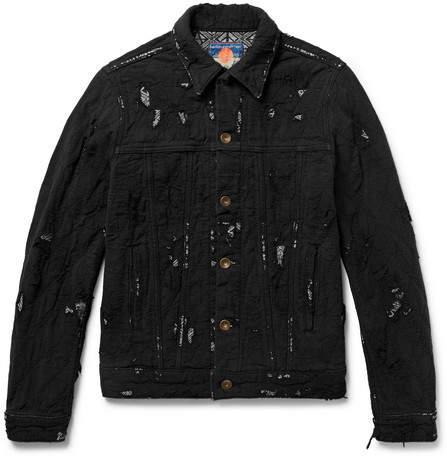 Blackmeans Slim-Fit Distressed Cotton Jacket