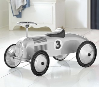 Pottery Barn Kids Silver Racecar With Black Trim