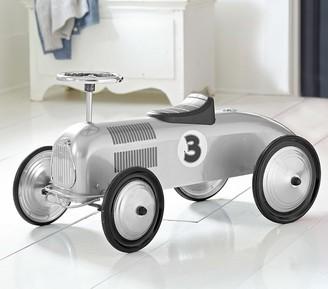 Pottery Barn Kids Silver Racecar With Black Trim