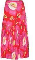 Isolda Leticia Pleated Midi Skirt