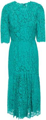 Dolce & Gabbana Fluted Corded-lace Dress