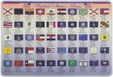 PAINLESS LEARNING PLACEMATS-State Flags-Placemat