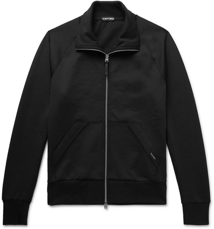 Tom Ford Jersey Zip-Up Sweatshirt