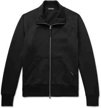 Tom Ford Jersey Zip-Up Sweatshirt