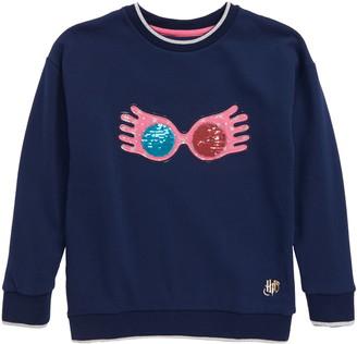 Boden Mini Harry Potter Luna Flip Sequin Sweatshirt