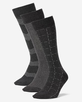 Eddie Bauer Men's Pattern Crew Socks - 3 Pack