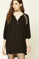 Forever 21 FOREVER 21+ Embroidered Peasant Dress