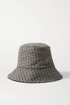Eugenia Kim Sara Reversible Cotton-corduroy And Houndstooth Woven Bucket Hat - Gray