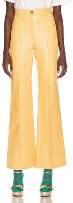 Gucci Leather Pant in Cornish Cream | FWRD