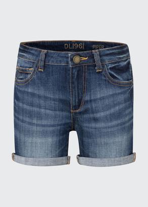 DL1961 Piper Cuffed Denim Shorts, Size 7-16