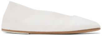 Marsèll White Square Spatolona Ballerina Flats