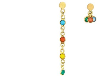 Daixa Somed Emilie Earrings - Sterling Silver Gold Plated & Chalcedonies